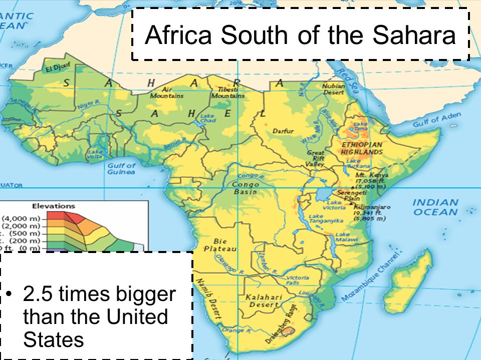Africa South Of The Sahara Map | Park Map