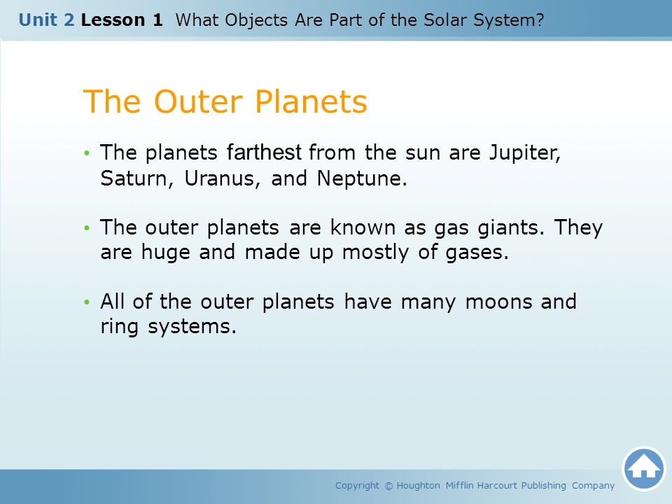 Unit 2 Lesson 1 What Objects Are Part of the Solar System