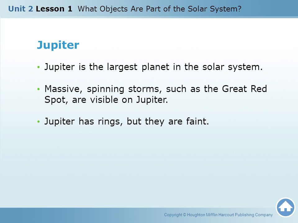 Jupiter Jupiter is the largest planet in the solar system.