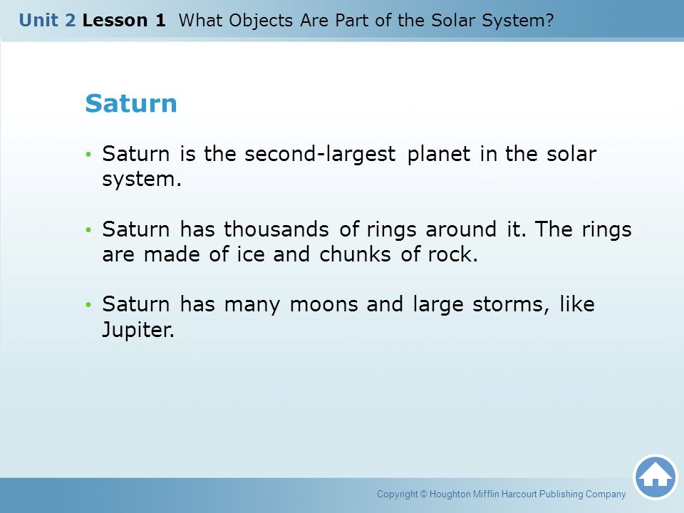 Saturn Saturn is the second-largest planet in the solar system.