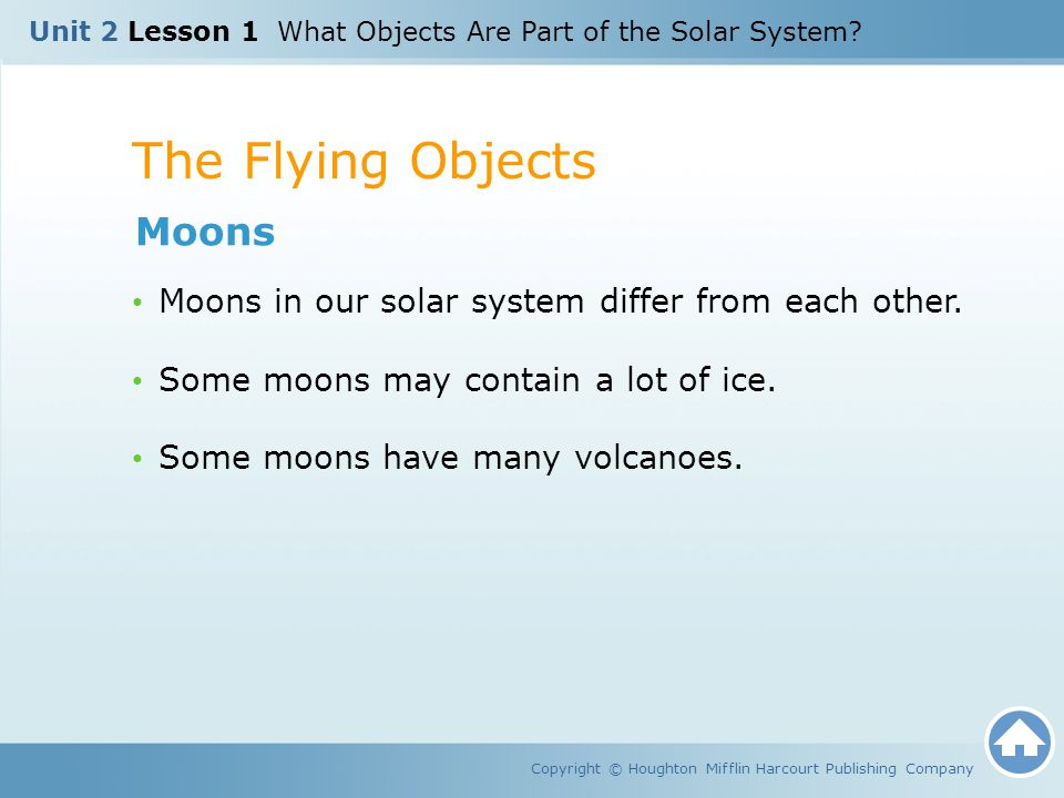 The Flying Objects Moons
