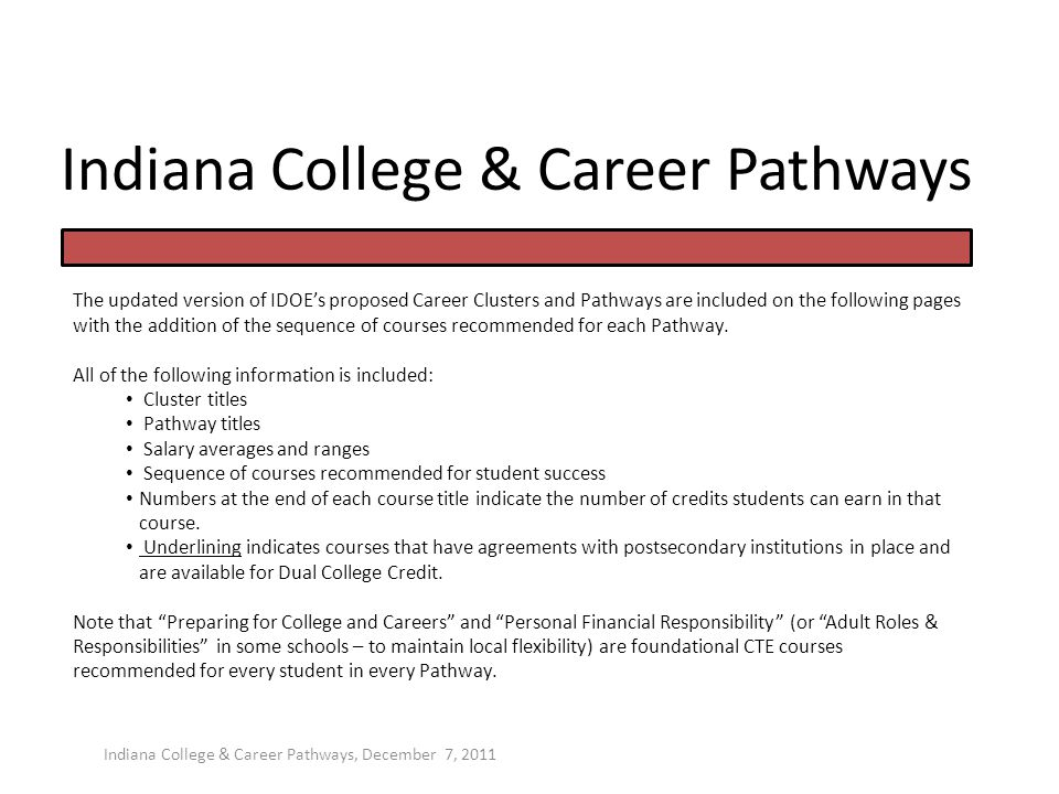Indiana College & Career Pathways