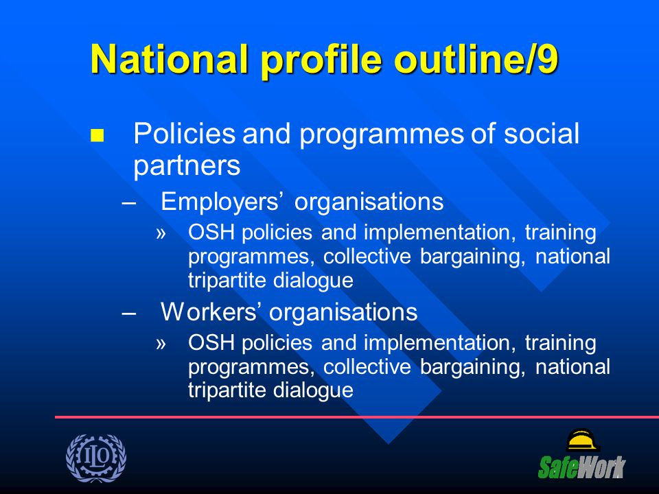 National profile outline/9