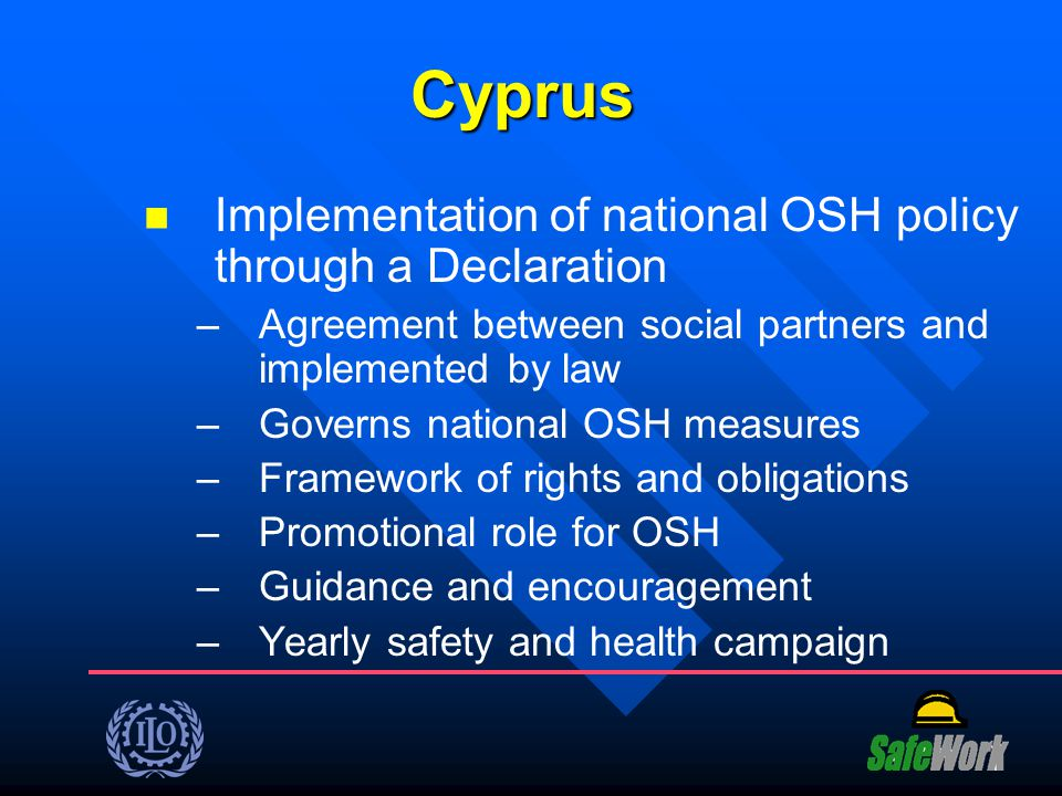 Cyprus Implementation of national OSH policy through a Declaration