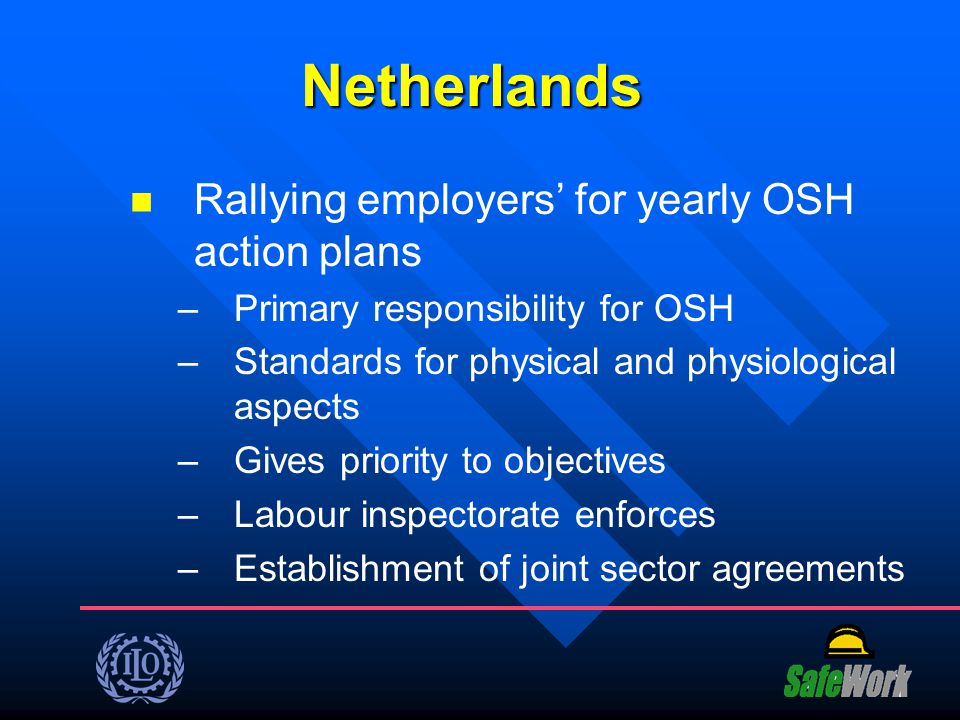 Netherlands Rallying employers' for yearly OSH action plans