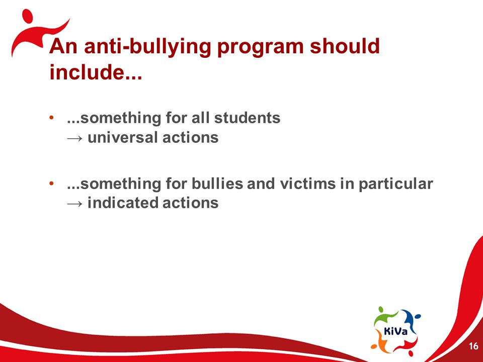 An anti-bullying program should include...