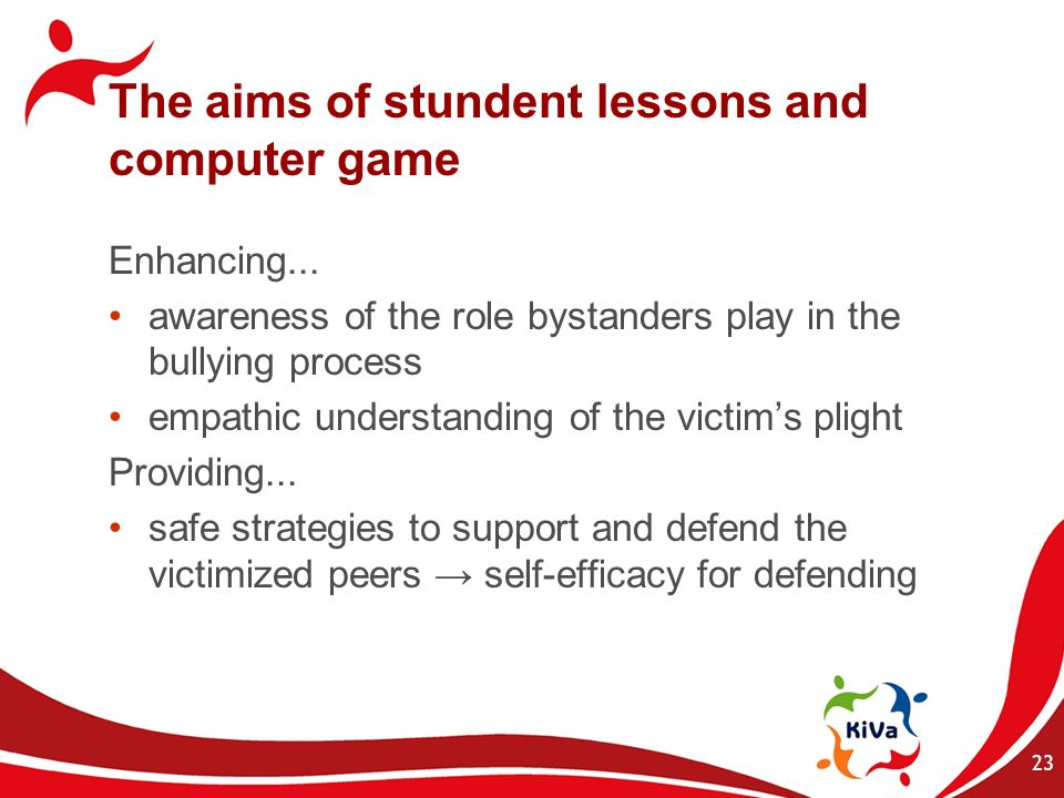 The aims of stundent lessons and computer game