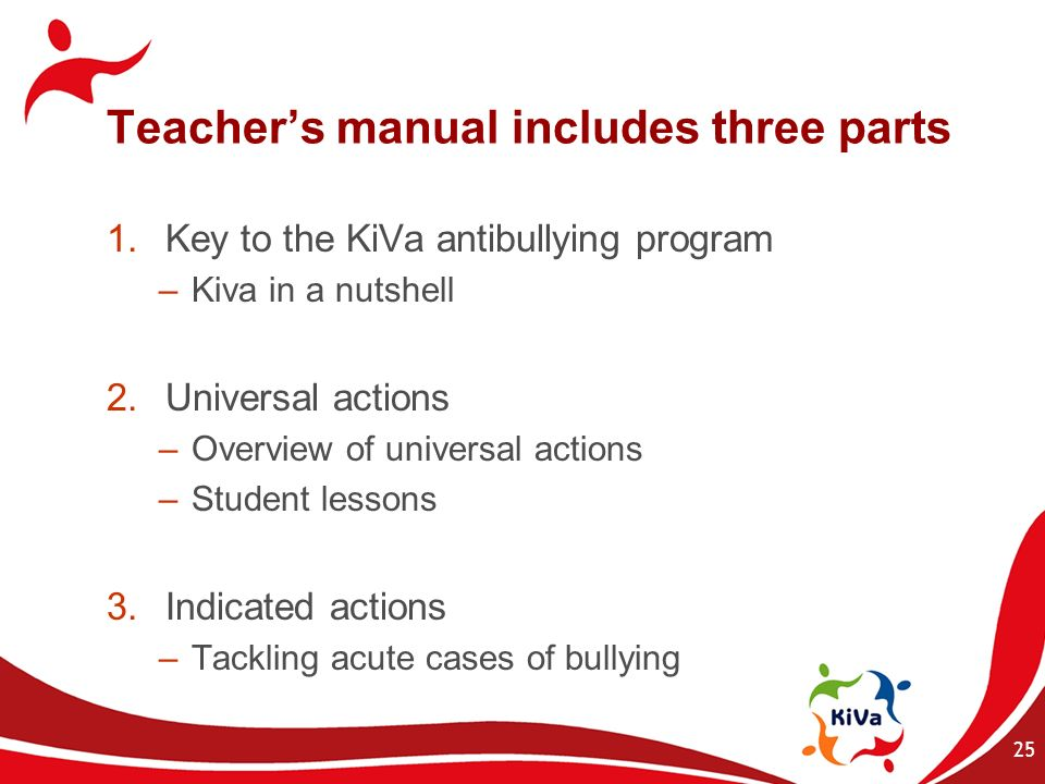 Teacher's manual includes three parts