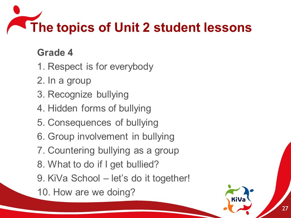 The topics of Unit 2 student lessons