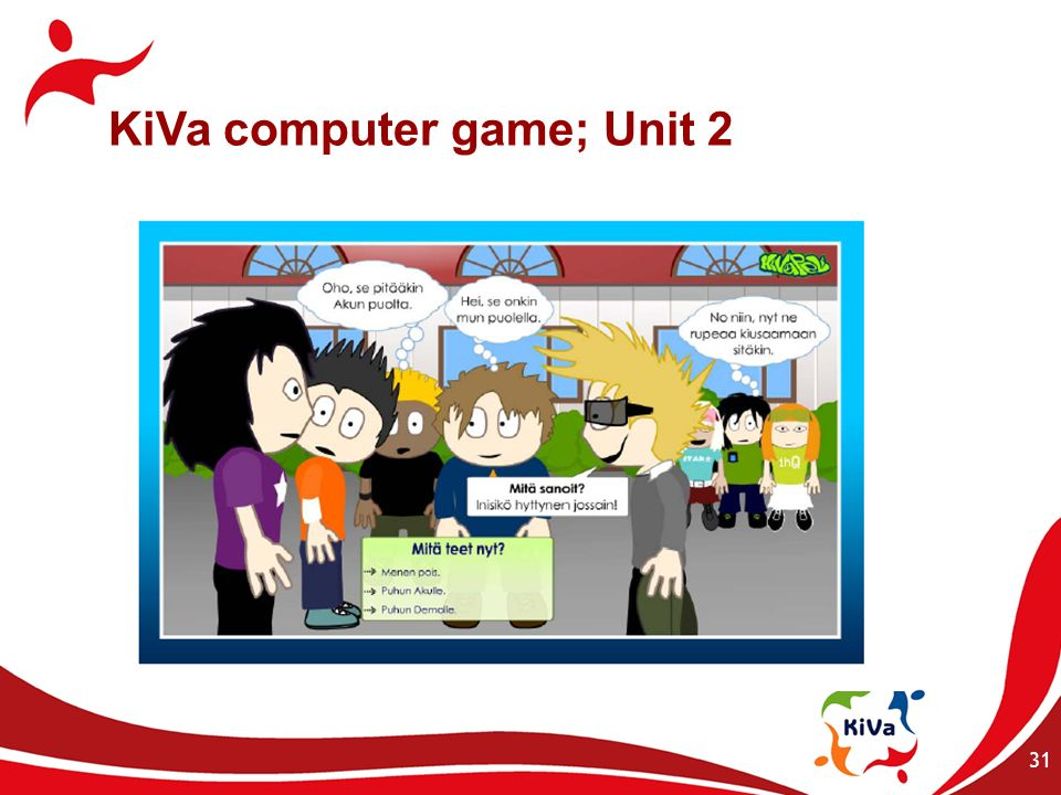 KiVa computer game; Unit 2