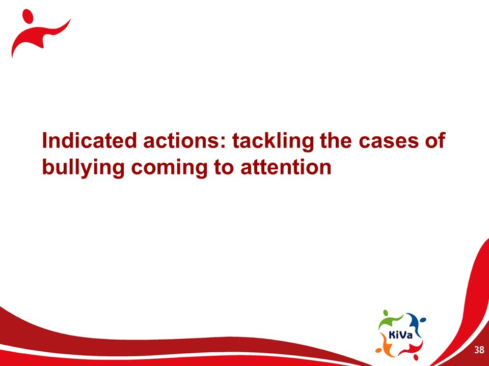 Indicated actions: tackling the cases of bullying coming to attention