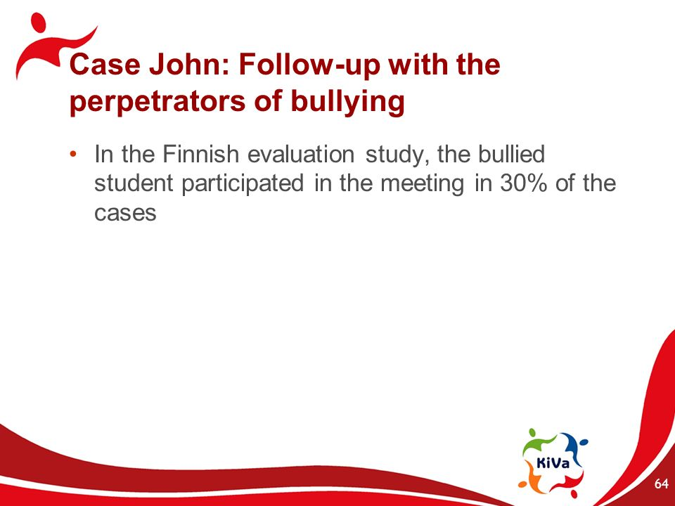 Case John: Follow-up with the perpetrators of bullying