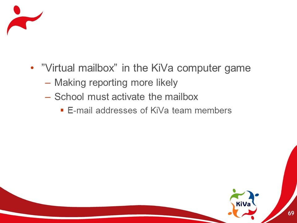 Virtual mailbox in the KiVa computer game
