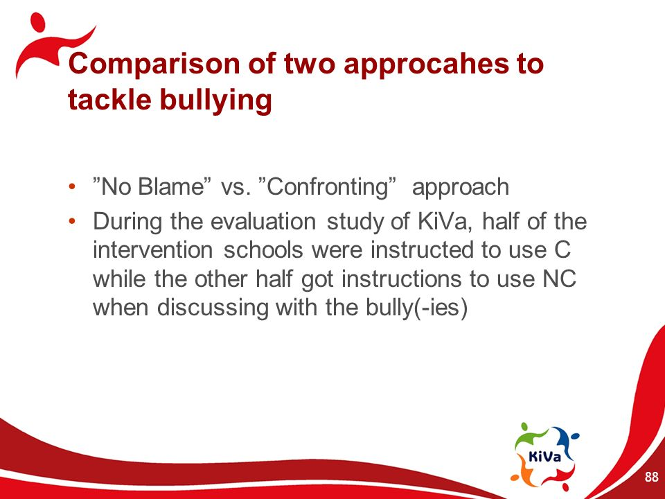 Comparison of two approcahes to tackle bullying
