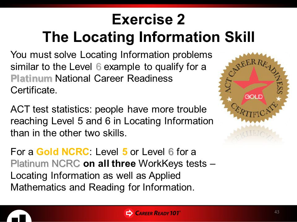 The National Career Readiness Certificate Ppt Download