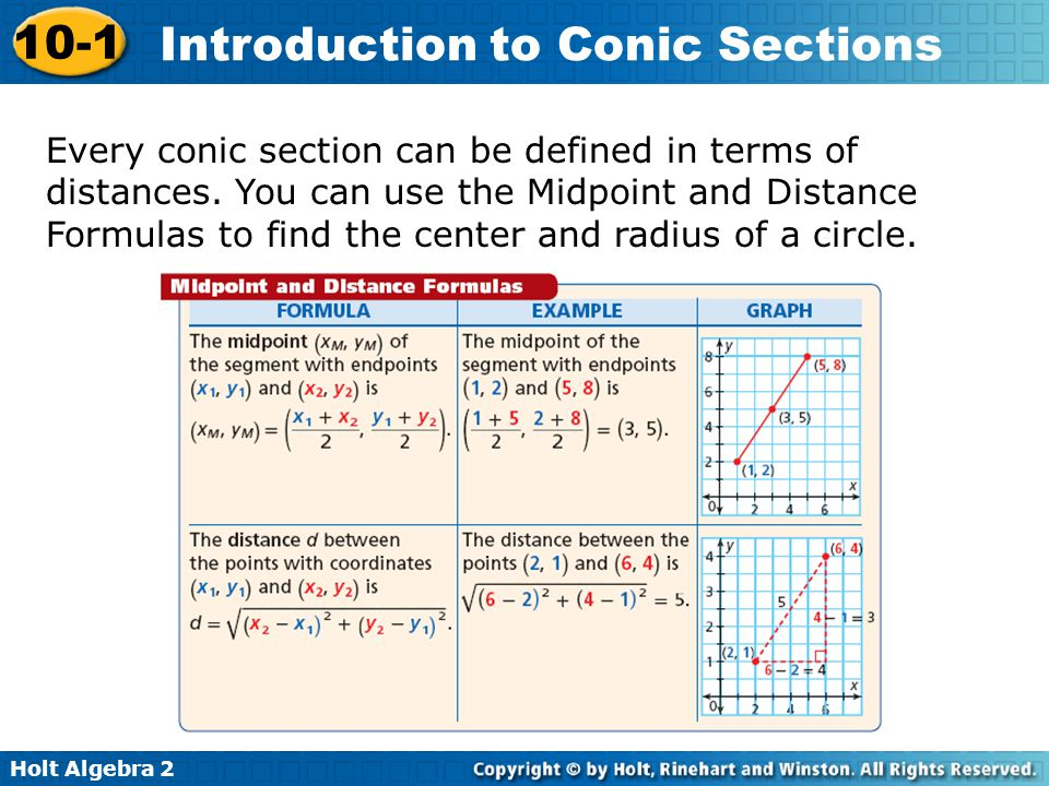 Every conic section can be defined in terms of distances