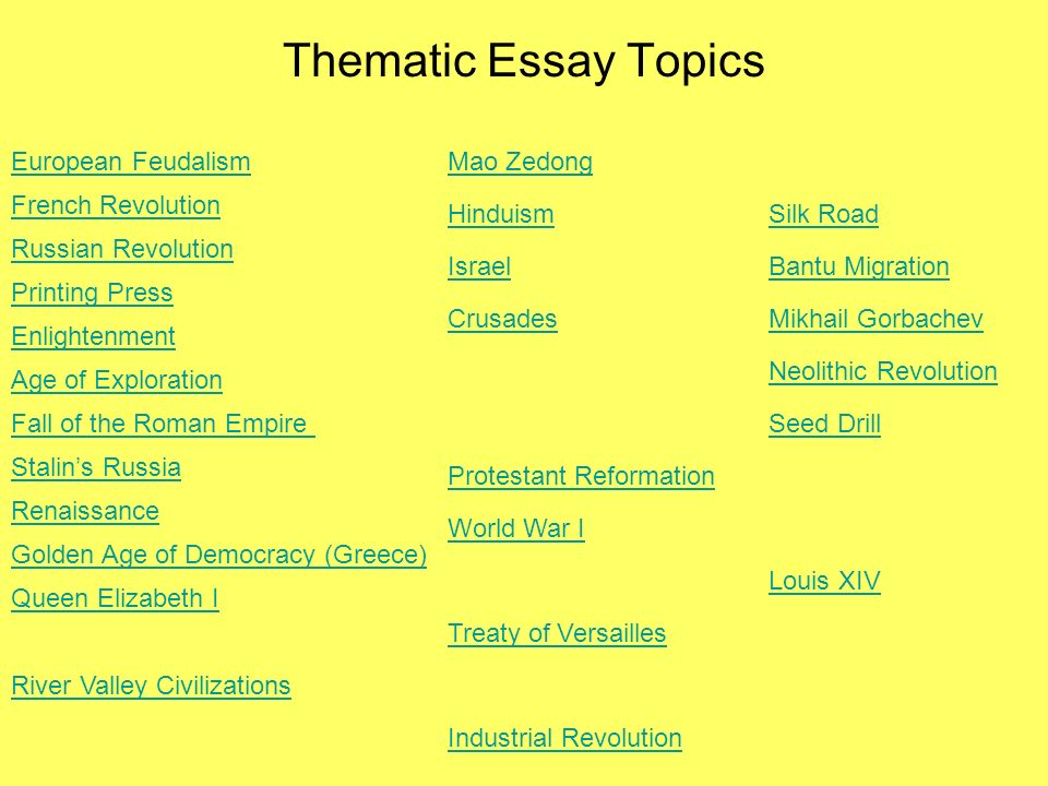 Global 10 Thematic Essays 2