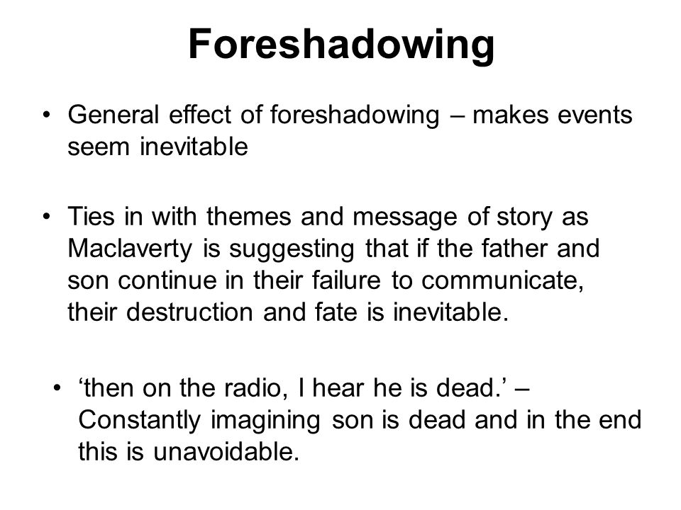 purpose of foreshadowing in literature