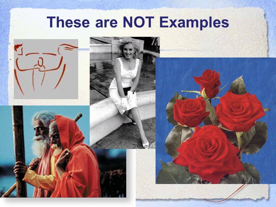 These are NOT Examples