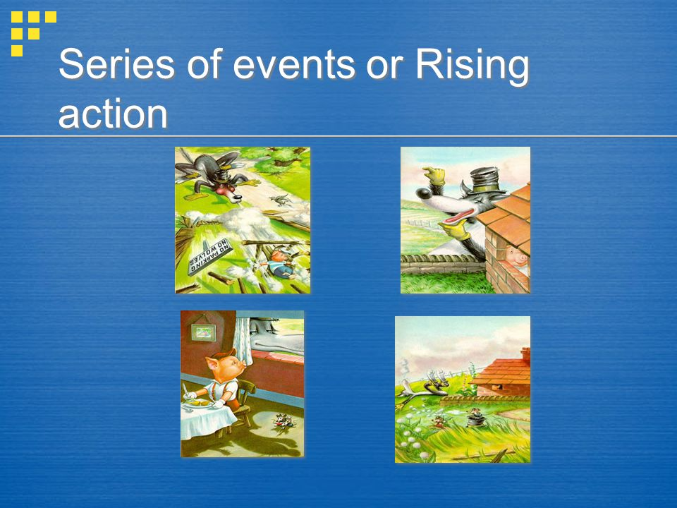 Series of events or Rising action