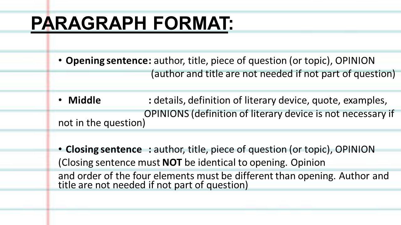 closing sentence definition