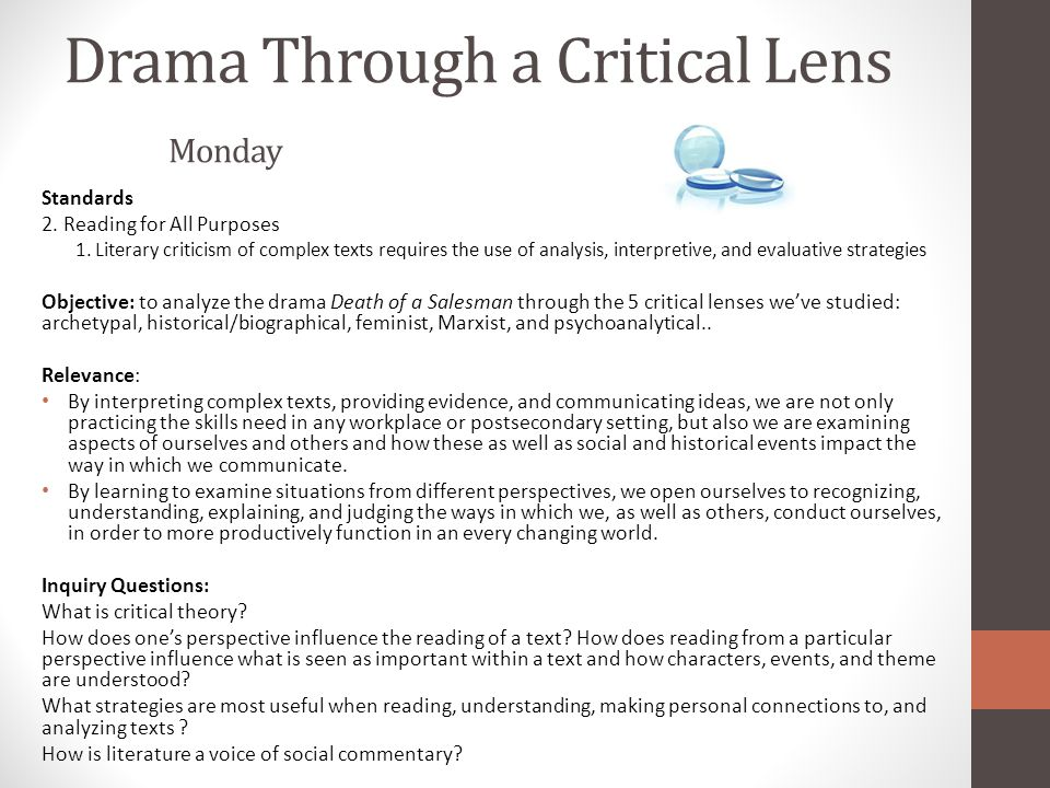 what is critical lens