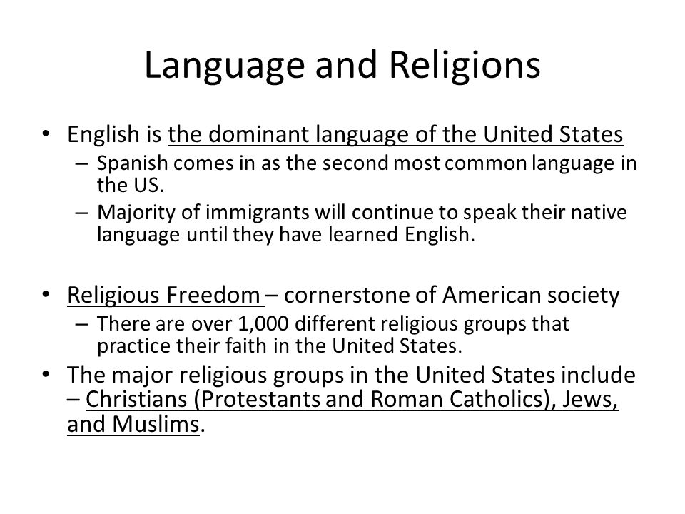 Language and Religions