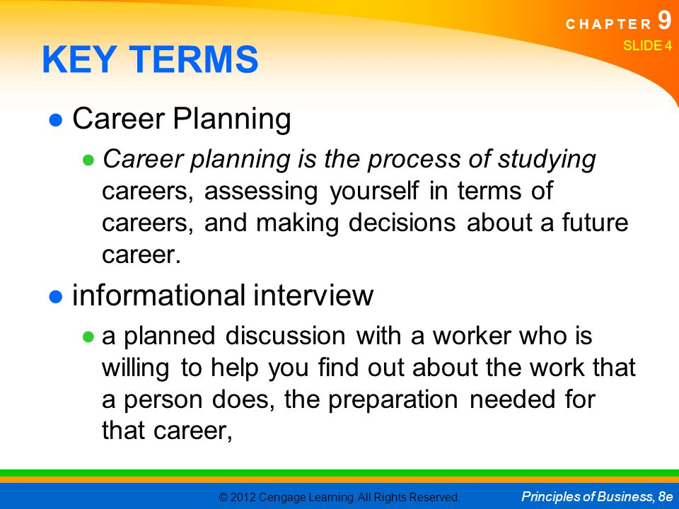 key terms career planning informational interview