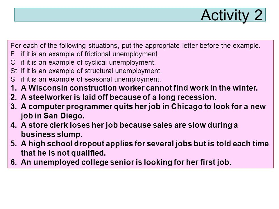 what is an example of structural unemployment