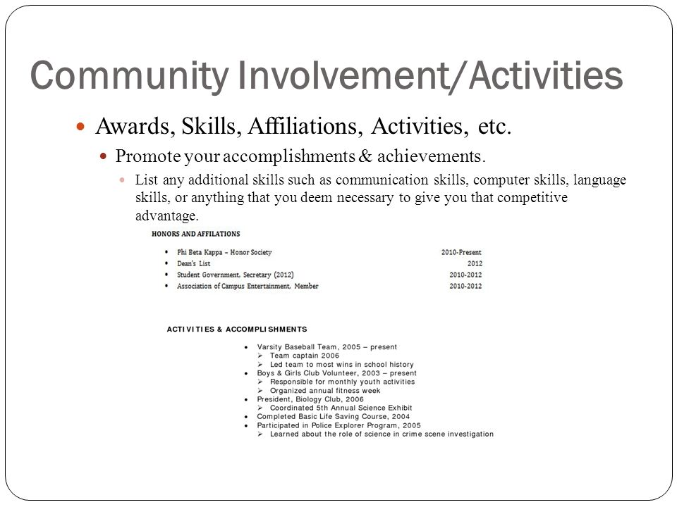 Community Involvement/Activities