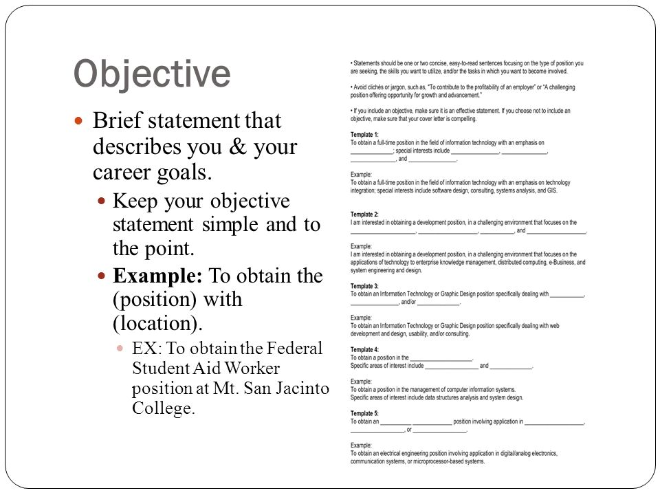 college application resume objective statement college application brief objective 12142