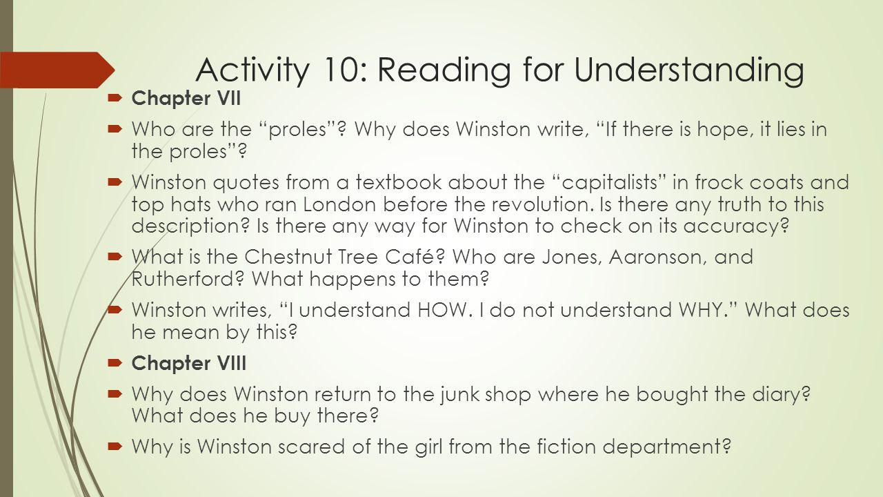 what does winston write in his diary