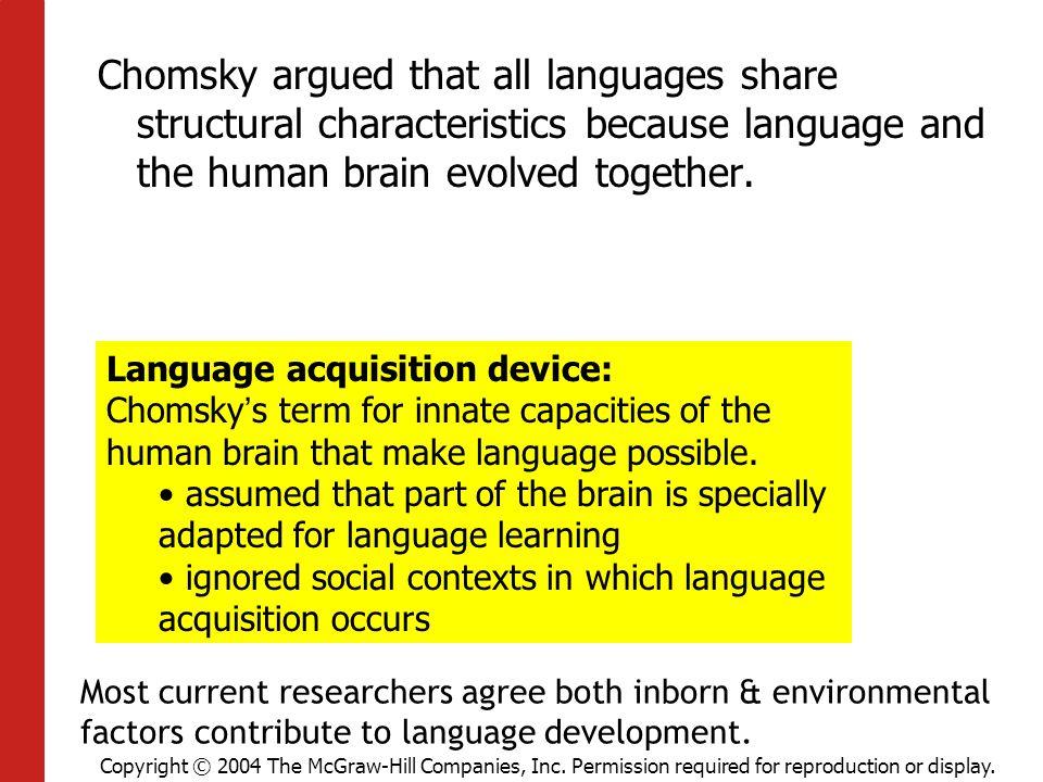 characteristics of language development