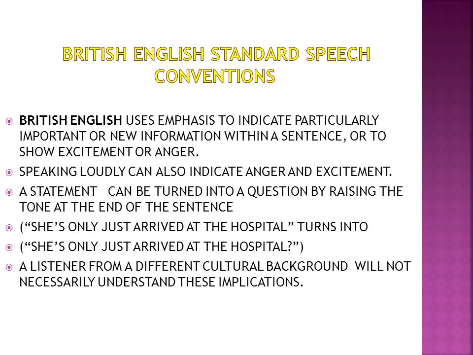 speech conventions english