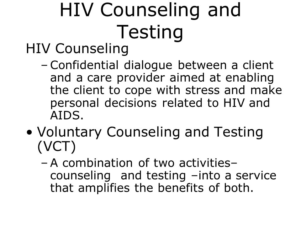 HIV Counseling and Testing