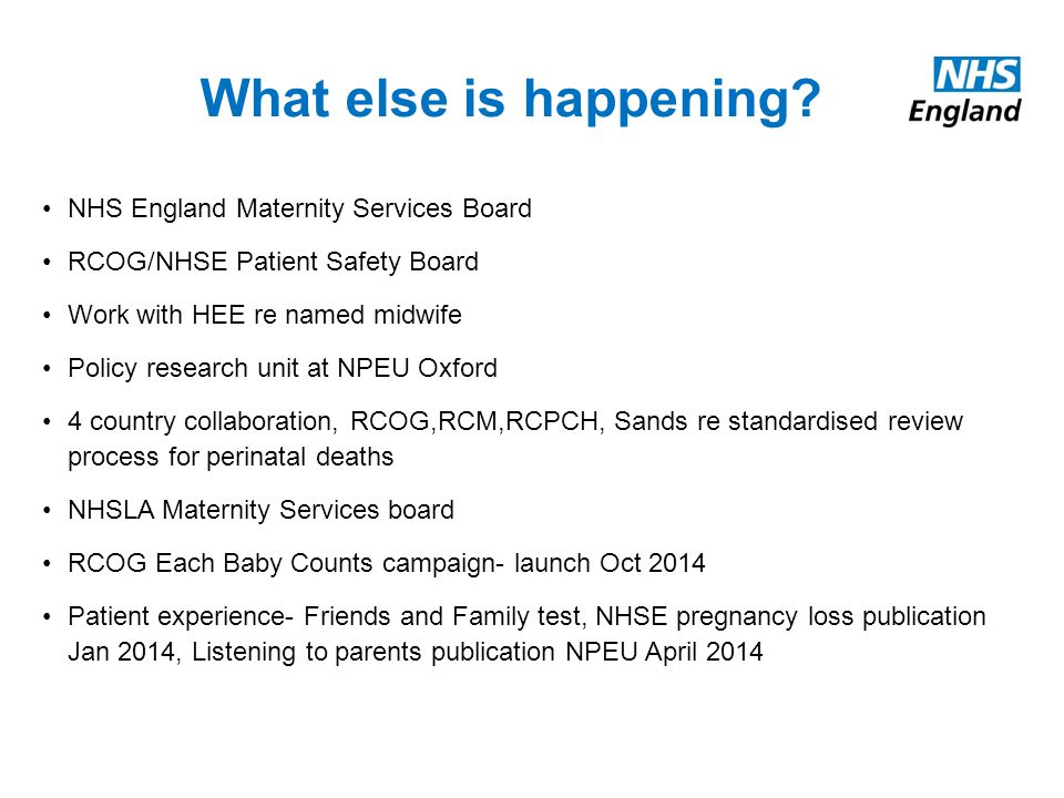 NHS England - Maternity, Children Young People's Programmes  - ppt