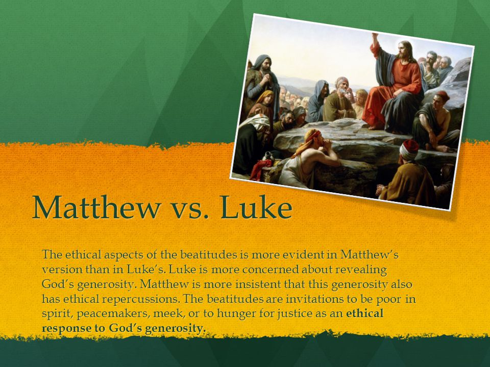 Matthew vs. Luke