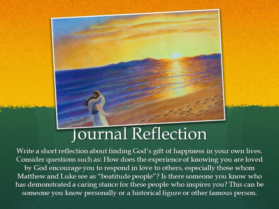Journal Reflection
