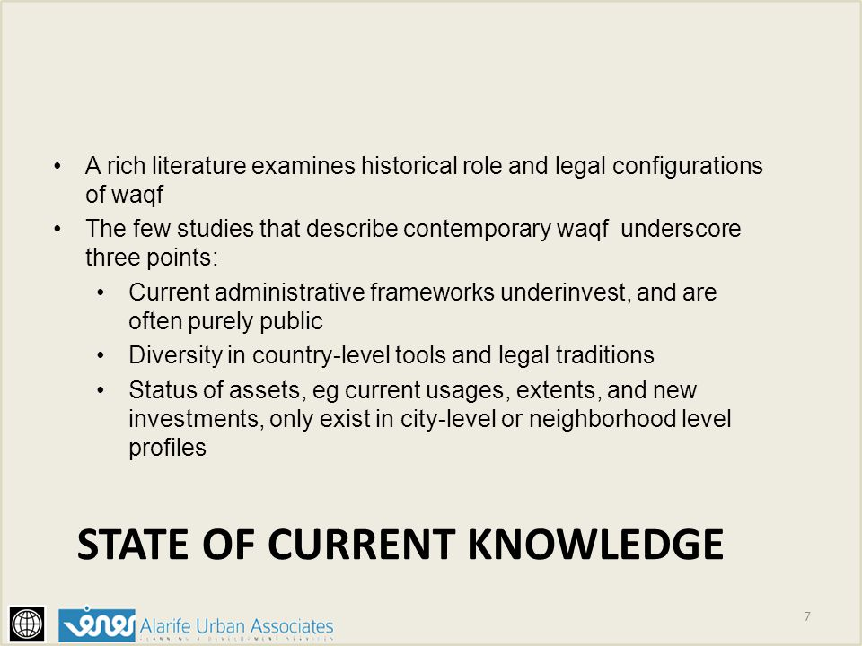 state of current Knowledge