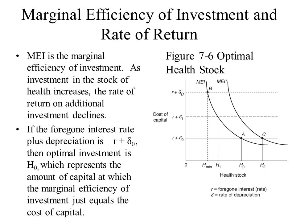 Lecture 6 demand for health capital tianxu chen ppt video online marginal efficiency of investment and rate of return ccuart Images