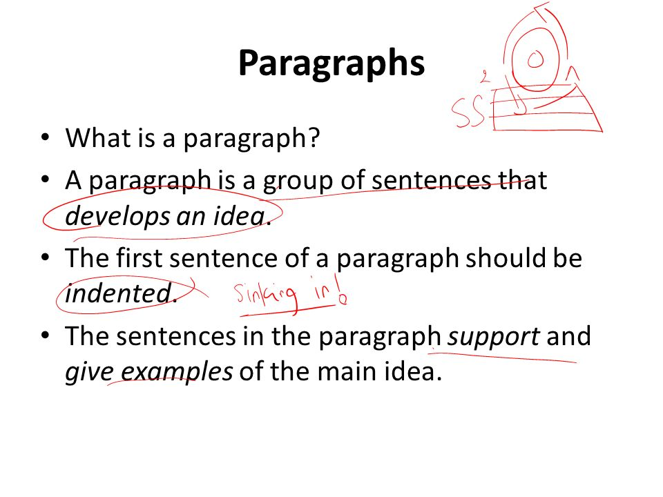 how does a paragraph look like