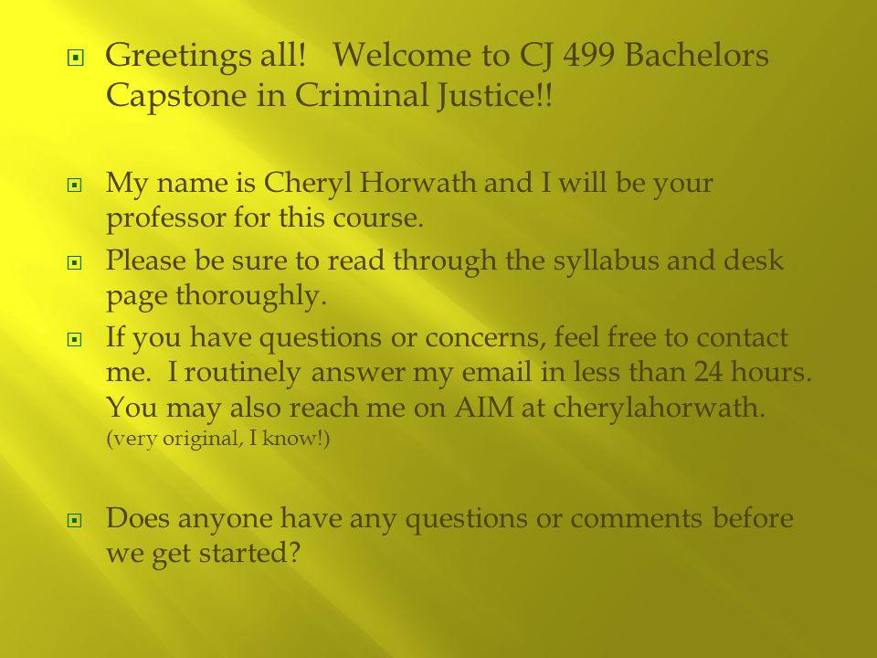 criminal justice capstone project ideas