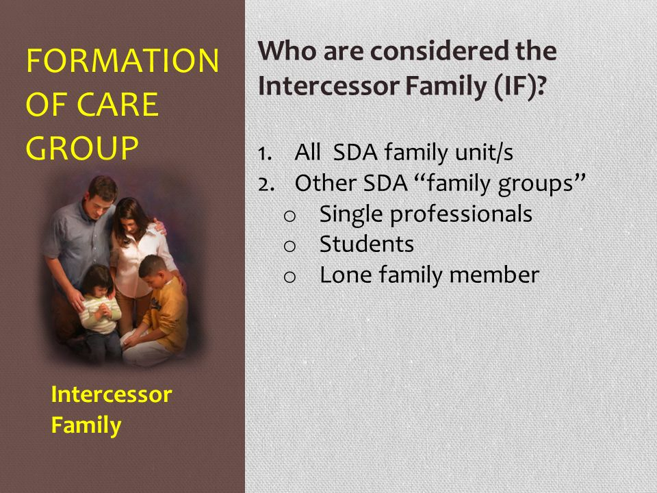FORMATION OF CARE GROUP - ppt download