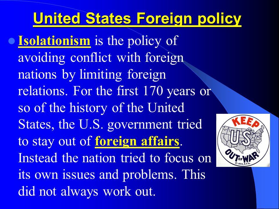 us foreign relations essay United states foreign policy changed in some very noticeable ways after september 11, 2001 in other ways, policy after 9/11 has remained the same.