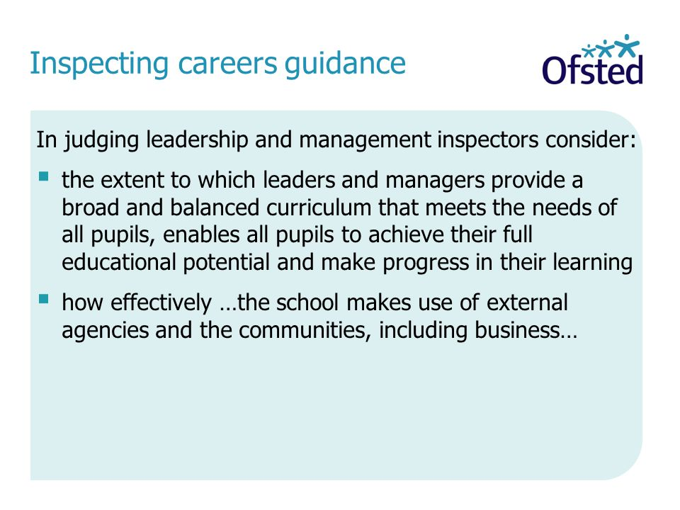 Inspecting careers guidance