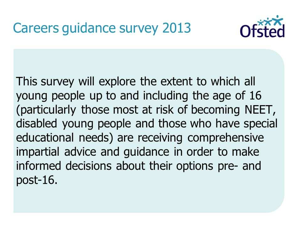 Careers guidance survey 2013
