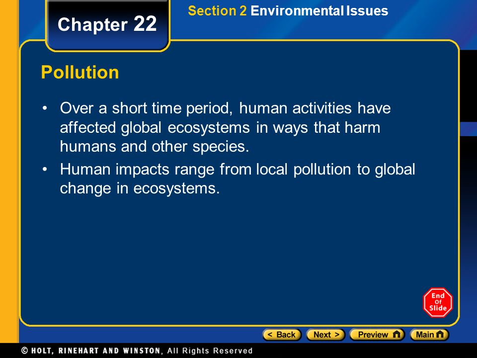 Section 2 Environmental Issues