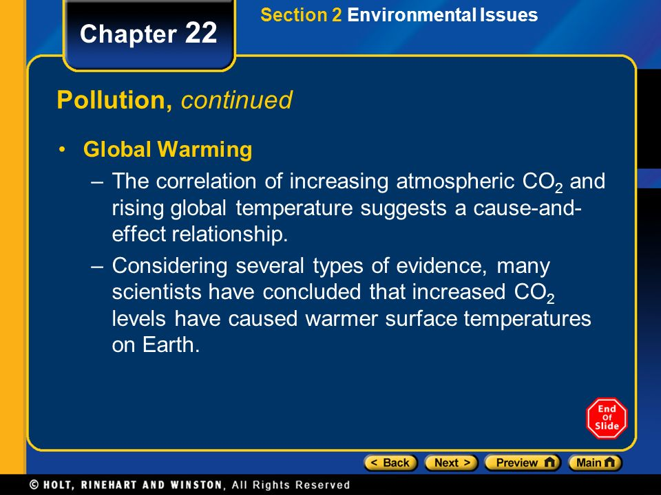 Chapter 22 Pollution, continued Global Warming