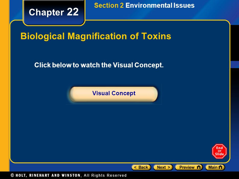 Biological Magnification of Toxins
