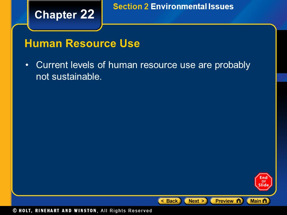 Chapter 22 Human Resource Use